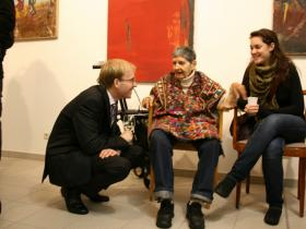 "Martin Rauchbauer, director of the ""Deutsches Haus"" at the NY University with Soshana and grand-daughter Alina"