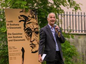 Marco Giacometti, nephew of Alberto Giacometti, director of the Centro Giacometti