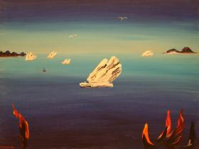 Flying Iceberg (1981) | Oil on Canvas | 75 x 101 cm